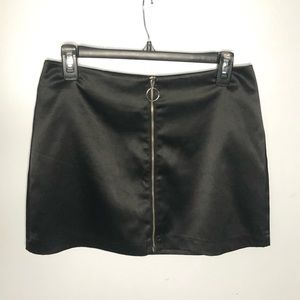 Forever21 Black Zipper Up Mini Skirt Medium